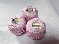 Ірис Пряжа Iris  YarnArt 100% бавовна,ніжно  рожевий, 1 шт. № 0914