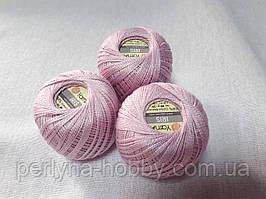 Нитки  для вязания хлопок ирис Ірис Пряжа Iris  YarnArt 100% бавовна, рожево бузковий, 1 шт. № 0917