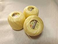 Ірис Пряжа Iris  YarnArt 100% бавовна, жовтий світлий 1 шт. № 0912