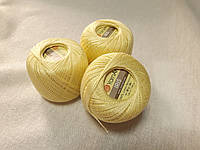 Нитки ирис Ірис Пряжа Iris YarnArt 100% бавовна, жовтий світлий 1 шт. № 0912