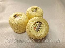 Нитки  для вязания хлопок ирис Ірис Пряжа Iris  YarnArt 100% бавовна, жовтий світлий 1 шт. № 0912