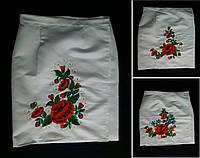 Национальная одежда - плахта на атласе с вышивкой, 48-54 р-ры, 490/440 (цена за 1 шт. + 50 гр), фото 1