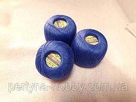 Нитки для вязания хлопок  ирис Ірис Пряжа Iris  YarnArt 100% бавовна, Синій, 1 шт. № 0922