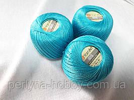 Нитки  для вязания хлопок ирис Ірис Пряжа Iris  YarnArt 100% бавовна,бірюзовий, 1 шт. № 0923