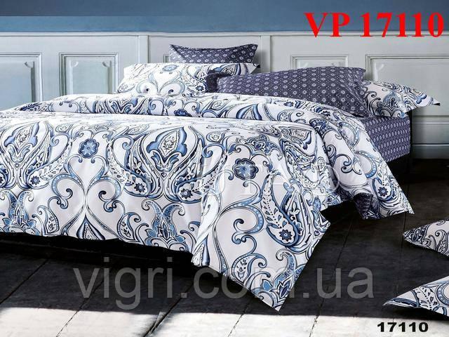 Постельное белье, евро комплект, ранфорс, Вилюта (VILUTA) VР 17110