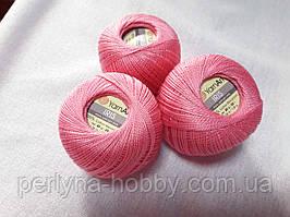 Нитки для вязания хлопок  ирис Ірис Пряжа Iris  YarnArt 100% бавовна, рожевий, 1 шт. № 0915