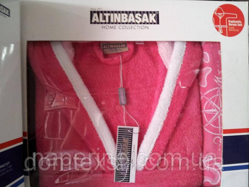 Халат махровый + полотенце  ТМ  ALTINBASAK Турция