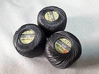Ірис Пряжа Iris  YarnArt 100% бавовна, темно сірий, 1 шт. № 0934