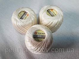 Нитки  для вязания хлопок ирис Ірис Пряжа Iris  YarnArt 100% бавовна,молочний, 1 шт. № 0911