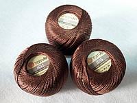 Ірис Пряжа Iris  YarnArt 100% бавовна, коричневий, 1 шт. № 0932