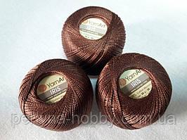 Нитки  для вязания хлопок ирис Ірис Пряжа Iris  YarnArt 100% бавовна, коричневий, 1 шт. № 0932