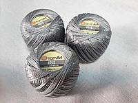 Ірис Пряжа Iris  YarnArt 100% бавовна, стальний сірий, 1 шт. № 0932