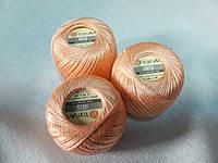 Ірис Пряжа Iris  YarnArt 100% бавовна, персиковий, 1 шт. № 0913