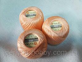 Нитки  для вязания хлопок ирис Ірис Пряжа Iris  YarnArt 100% бавовна, персиковий, 1 шт. № 0913