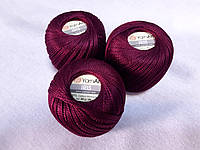 Ірис Пряжа Iris  YarnArt 100% бавовна, бордовий темний, 1 шт. № 0920