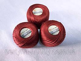 Нитки  для вязания хлопок для вязания хлопок  ирис  Ірис Пряжа Iris  YarnArt, терракотово коричневі № 0931