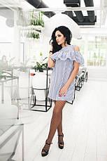 Летнее мини-платье с воланом на плечах, фото 2