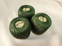 Ірис Пряжа Iris  YarnArt 100% бавовна, зелений темний, 1 шт. № 0928
