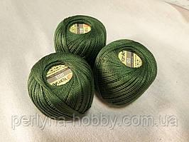 Нитки  для вязания хлопок для вязания хлопок  ирис Ірис Пряжа Iris  YarnArt  зелений темний, 1 шт. № 0928