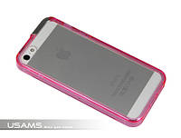 Чехол USAMS iPhone 5 two in one bumper case Transparent pink