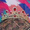Весільна діадема корона, РУБІНА, Тіара Вікторія, весільні прикраси, фото 2