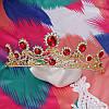 Весільна діадема корона, РУБІНА, Тіара Вікторія, весільні прикраси, фото 5
