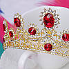 Весільна діадема корона, РУБІНА, Тіара Вікторія, весільні прикраси, фото 7