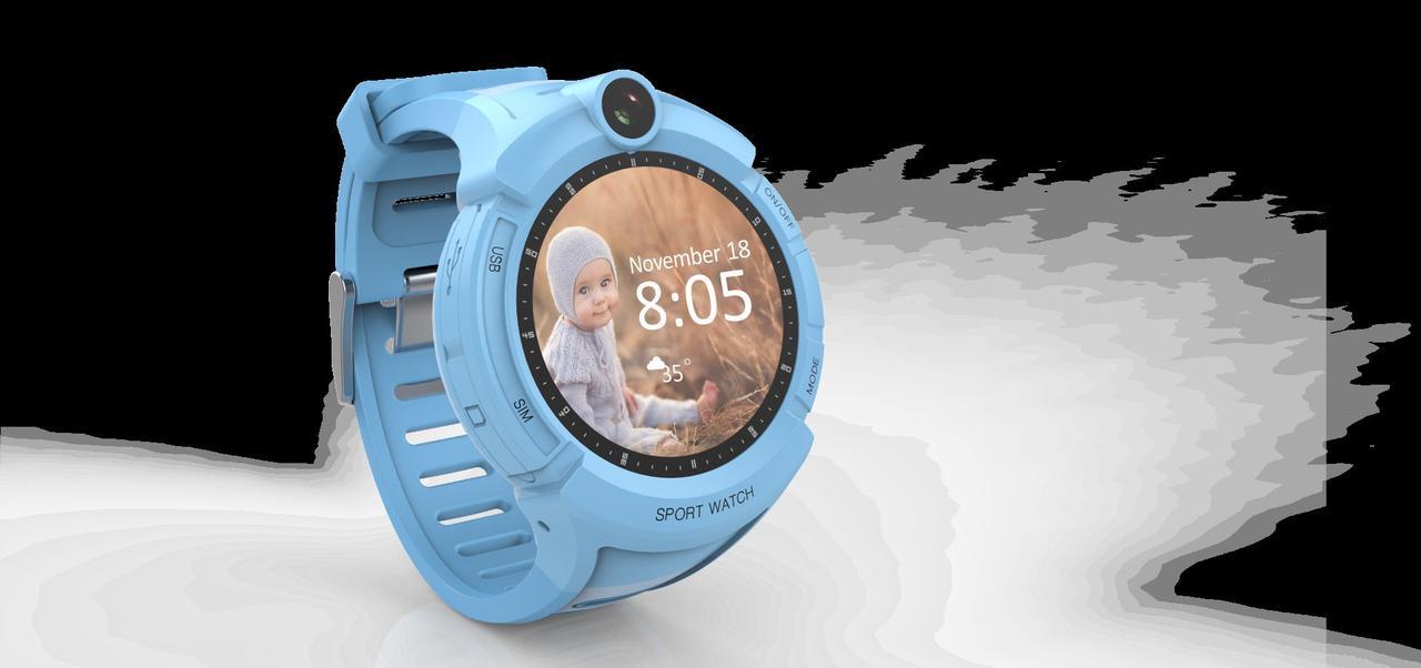 Годинник дитячі Gps/Lbs Smart Baby Watch G51 blue