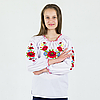 """Вишиті блузки """"Маки"""" от 7 до 16 лет, фото 3"""