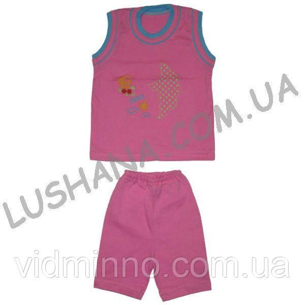 Костюм для девочки Вышивка на рост 80-86 см - Кулир