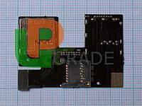 Разъем Sim-карты и карты памяти для HTC 300 Desire/301e/500/506e, на шлейфе