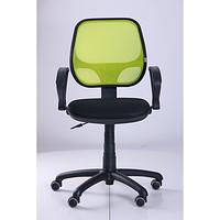 Кресло Байт АМФ-4, сиденье Сетка черная, спинка Сетка лайм (AMF-ТМ)