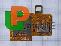 Разъем Sim-карты и карты памяти для Sony ST23i Xperia Miro, на шлейфе