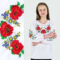 """Рубашки для девочек """"Букет цветов"""" от 7 до 16 лет 10"""