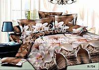 """Комплект постельного белья полуторный из ранфорса ТМ """"Ловец снов"""", Магия лилии"""