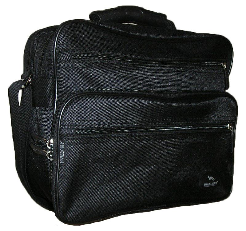 dbf6c78fc369 Мужская сумка Wallaby 2411 черная барсетка через плечо портфель 29х24х16см,  цена 248 грн., купить в Харькове — Prom.ua (ID#396610661)