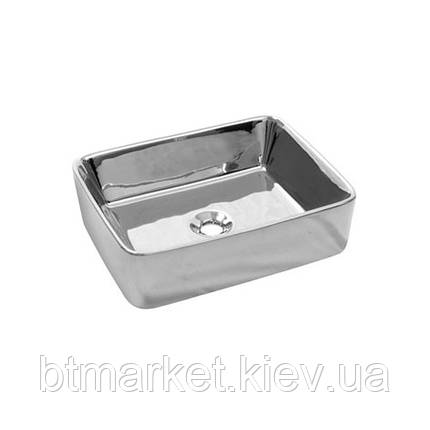 Умывальник NEWARC Silver countertop 51 (5011CR) серебро, б/п, (40*51*16), фото 2