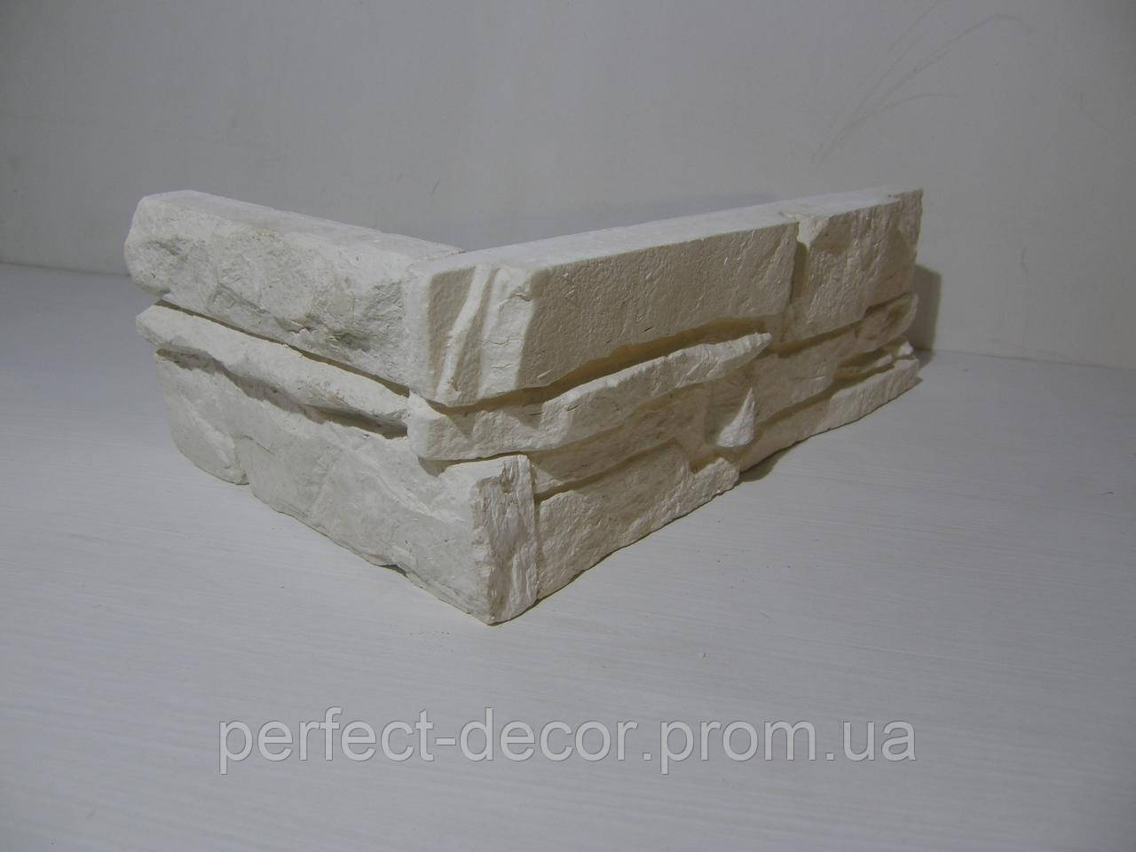 Камень декоративный Сланец (белый) угловой - ПП Загария в Черновицкой области