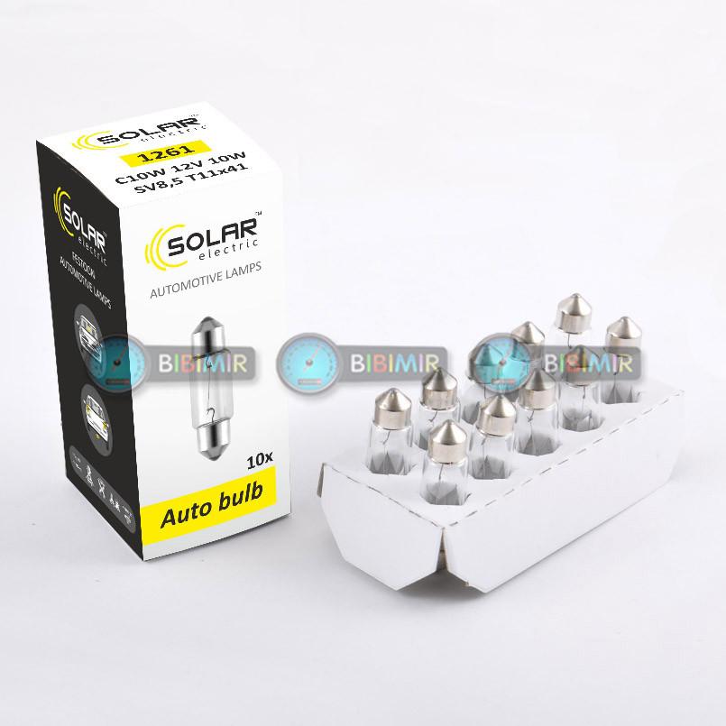 Галогеновая лампа Solar C10W T11x41 12V