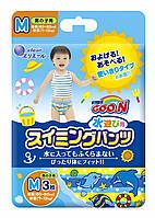 Трусики-подгузники для плавания Goo.N для мальчиков 7-12 кг ростом 60-80 см размер M, 3 шт (853032)