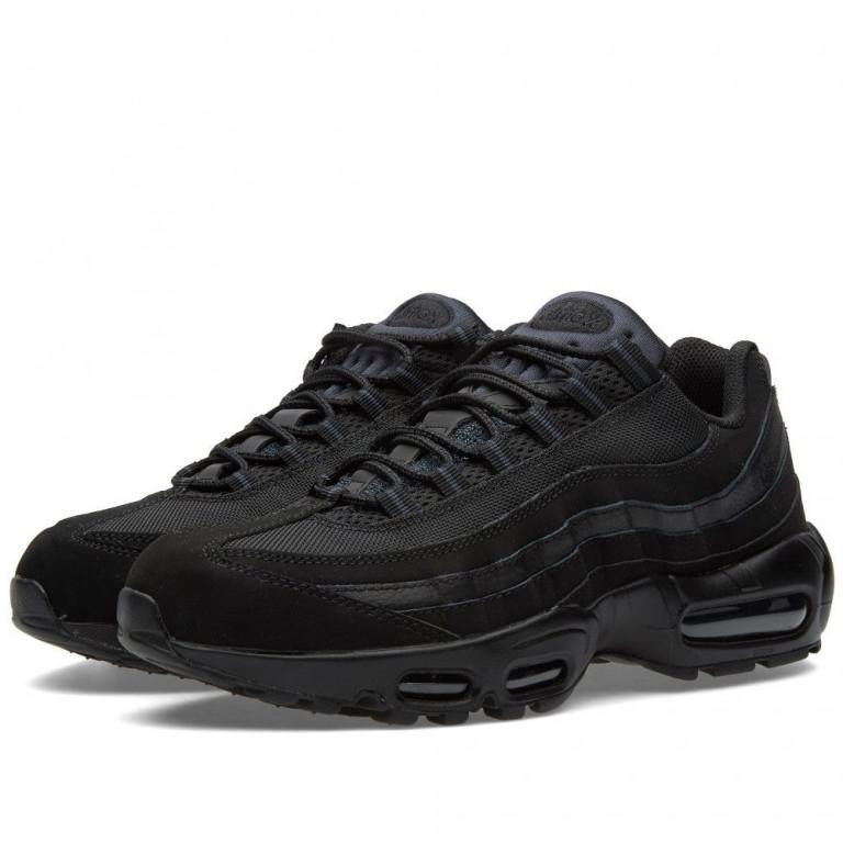Кроссовки мужские Nike Air Max 95 Triple Black (в стиле найк аир макс 95) 61f7e389505