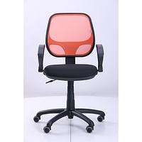 Кресло Байт АМФ-4, сиденье Сетка черная, спинка Сетка оранжевая (AMF-ТМ)