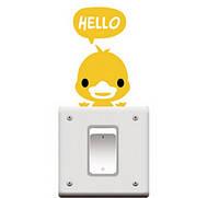 Наклейка на выключатель Утёнок 3D декор