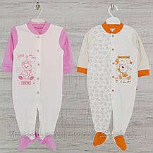 Человечек для новорожденного р.80-2шт. средний Хлопок-Интерлок,1402инкс.5-8 мес, В наличии 68,74 Рост, фото 3