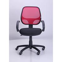 Кресло Байт АМФ-5, сиденье Сетка черная, спинка Сетка красная (AMF-ТМ)