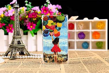 Силиконовый чехол для Nokia Lumia 720 с рисунком девушка с шарами