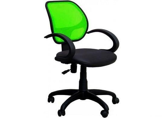 Крісло Байт АМФ-5, сидіння Сітка чорна, спинка Сітка салатова (AMF-ТМ)