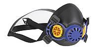 Полумаска защитная лицевая, с клапаном выдоха, 2 фильтра. EASYMASK