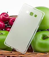 Силиконовый чехол для Samsung Galaxy A7 (A700) бампер матовый / прозрачный