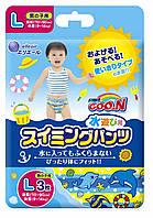 Трусики-подгузники для плавания Goo.N для мальчиков 9-14 кг, ростом 70-90 см размер L, 3 шт (853034)